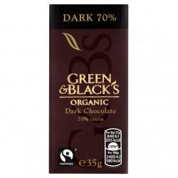 Green & Black's ekologiškas 70% juodasis šokoladas, 30 gr