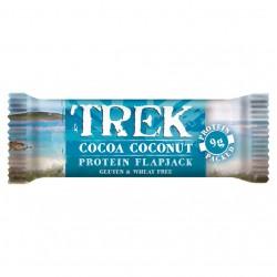 Baltyminis avižinis batonėlis su kokosų drožlėmis, dengtas šokoladu be glitimo TREK, 50 gr