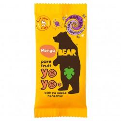 Mangų skonio vaisinis užkandis Bear Yo-Yo be pridėto cukraus, 20 gr