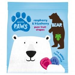 Aviečių ir mėlynių skonio užkandis Bear Paws be pridėto cukraus, 20 gr