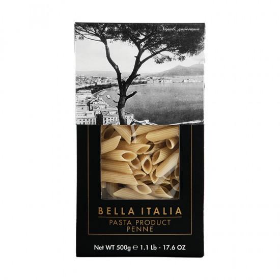 Bella Italia kietųjų kviečių makaronai penne (vamzdeliai), 500 gr