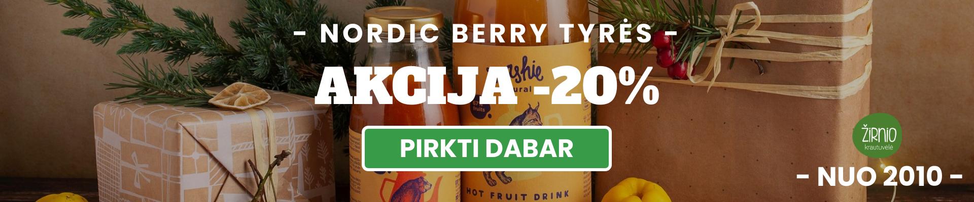 Nordic Berry uogų tyrės