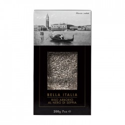 Itališkas rizoto (daugiaryžis) su sepijų rašalu Bella Italia