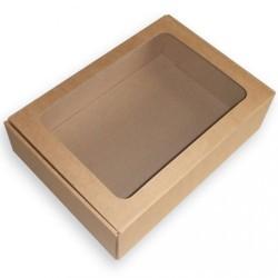 Dovanų dėžutė su langeliu ir medžio skiedromis