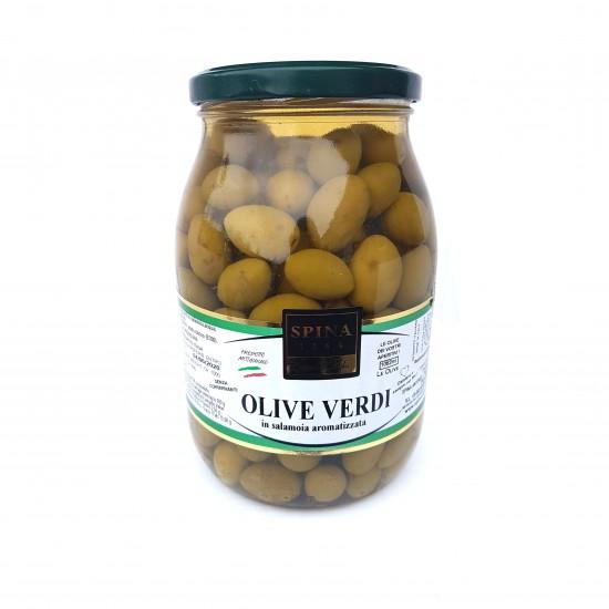 Alyvuogės, žaliosios su kauliukais (pesciolina) 1000 gr