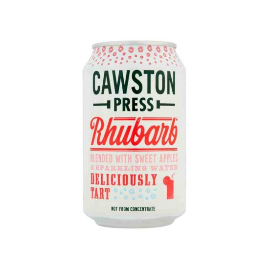 Obuolių ir rabarbarų sultys su gazuotu vandeniu Cawston Press, be pridėto cukraus, 330 ml