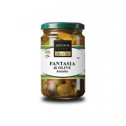 Aštrus alyvuogių kokteilis aliejuje (Fantasia di olive) 280 gr