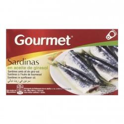 Sardinės saulėgrąžų aliejuje GOURMET, 88 gr