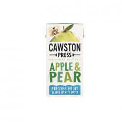 Obuolių ir kriaušių sultys be pridėto cukraus maišytos su šaltinio vandeniu Cawston Press, 200 ml