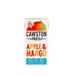 Obuolių ir mango sultys be pridėto cukraus maišytos su šaltinio vandeniu Cawston Press, 200 ml
