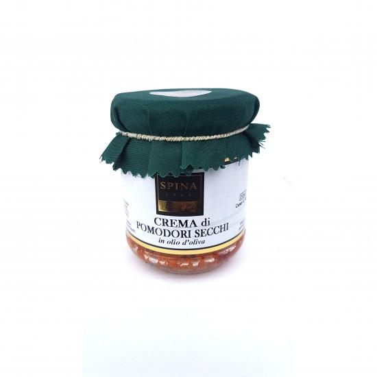 Saulėjė džiovintų pomidorų kremas su alyvuogių aliejumi SPINA, 190 gr.